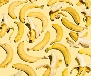 banana, yellow, and wallpaper image