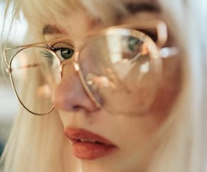 blonde, eyeglasses, and feed image