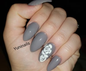 beautiful, gray, and nails image