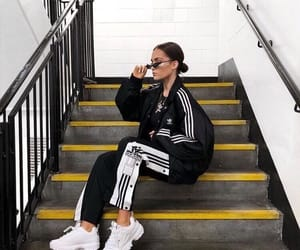 inspired, ootd, and addidas image