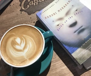 book, caffeine, and latte image