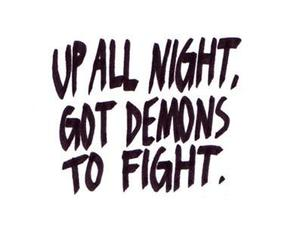 demons, quote, and fight image