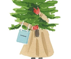 arbol, ilustraciones, and merry christmas image