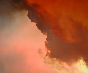 clouds, red, and sky image
