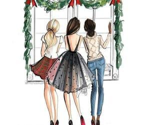 amigas, chicas, and ilustraciones image