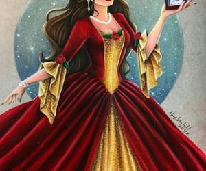 beauty and the beast, disney, and merry christmas image