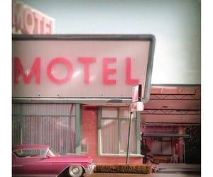 cadillac, flamingo, and motel image