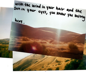 sun, eyes, and wind image