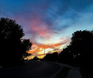 colors, nature, and sunset image