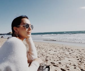 beach, beauty, and glasses image