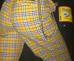chain, plaid, and yellow image