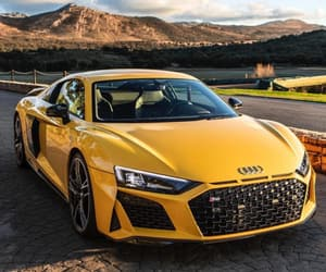 audi, car, and yellow image