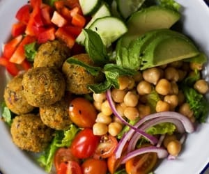 food, falafel, and fitness image