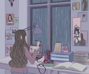ilustracion, rain, and gif image