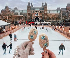 winter and ice skating image