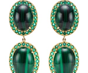 earrings, fashion, and malachite image