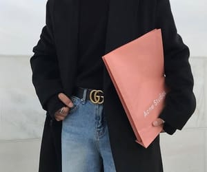 belt, black, and coat image