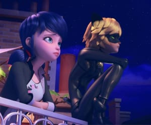 marinette, cat noir, and Chat Noir image