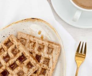 waffles, breakfast, and food image