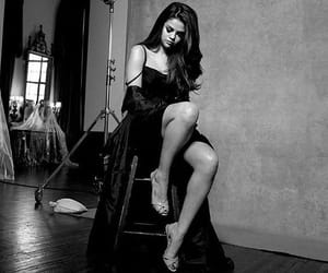 selena gomez, kill em with kindness, and black and white image