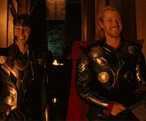gif, chris hemsworth, and tom hiddleston image