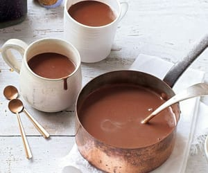 winter, chocolate, and drink image