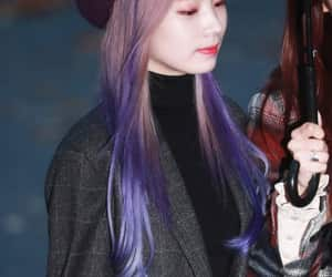 purple hair, twice, and musicbank image