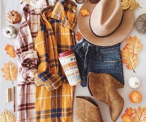 boots, plaid, and flannels image