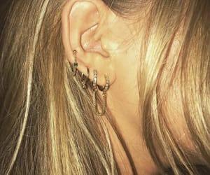 earrings, jewelry, and Piercings image
