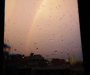 rain, rainbow, and aesthetic image