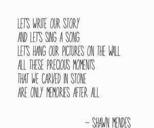 quotes, memories, and shawn mendes image