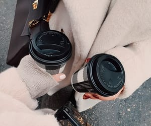 bag, coffee, and fashion image