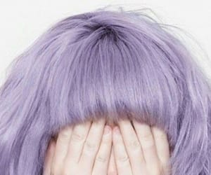 faceless and purple hair image
