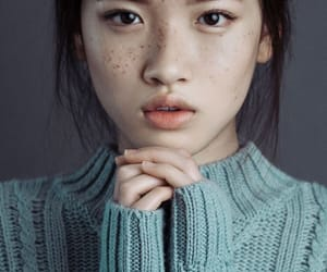 girl, blue, and freckles image