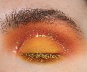 beauty, makeup, and orange image