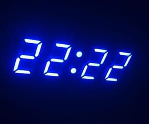 black, blue, and 22:22 image