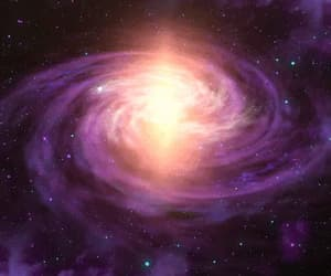 galactic, purple, and space image