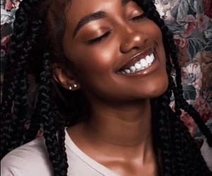 melanin, smile, and beauty image