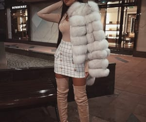 fur coat, outfit inspo, and outfit goals image