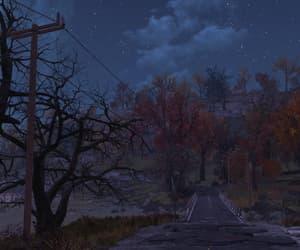 autumn, night, and night sky image