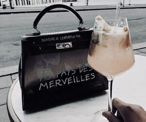 drink, bag, and fashion image