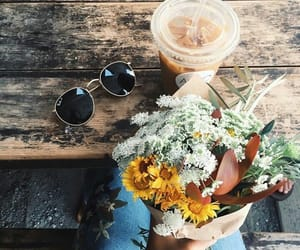 coffee, flowers, and beautiful image