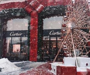 cartier, christmas, and diamonds image