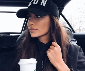 brunette, style, and tan image