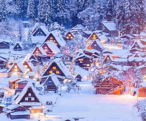 light, christmas, and Houses image