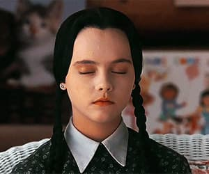 addams, goth, and wednesday image