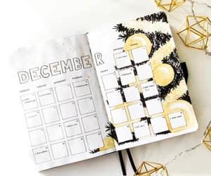 december, bujo, and bullet journal image
