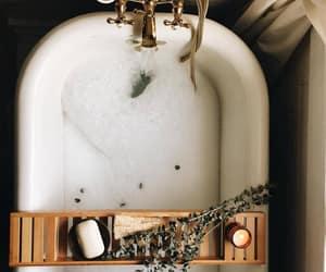 bath, bathroom, and bathtub image