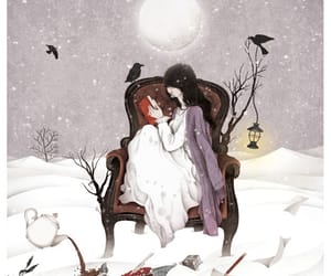 art, illustration, and snow image