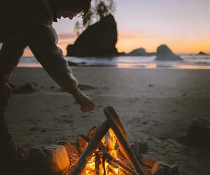 adventure, fire, and nature image